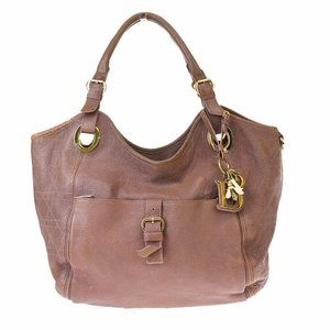 Auth Christian Dior Bee Cannage Shoulder Bag